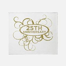 Funny 25th wedding anniversary Throw Blanket