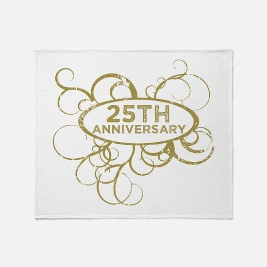 Funny 25 wedding anniversary Throw Blanket