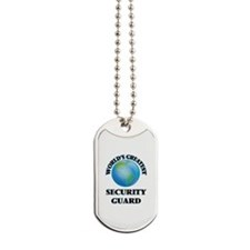 Funny Security guard jobs Dog Tags