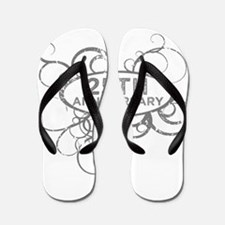 Unique 25th wedding anniversary Flip Flops