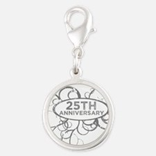 25th Wedding Anniversary Charms
