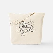 Cool 25th wedding anniversary Tote Bag