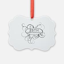 Cool 25th wedding anniversary Ornament