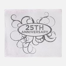 Unique 25th wedding anniversary Throw Blanket
