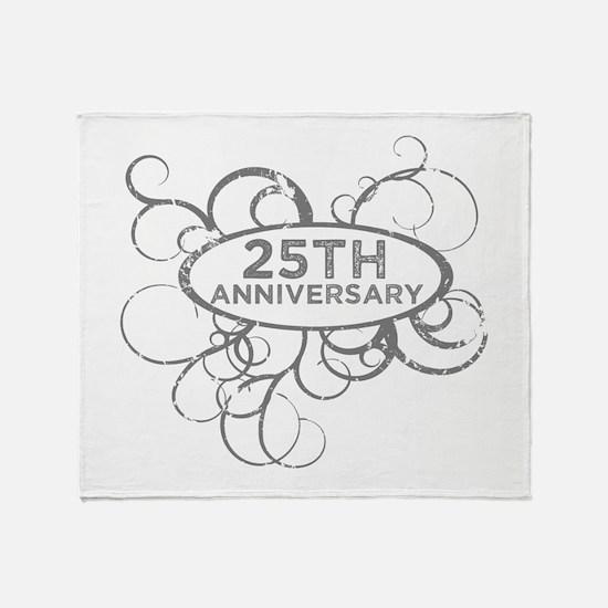 Cute 25 wedding anniversary Throw Blanket