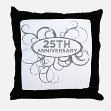 Cool 25th wedding anniversary Throw Pillow