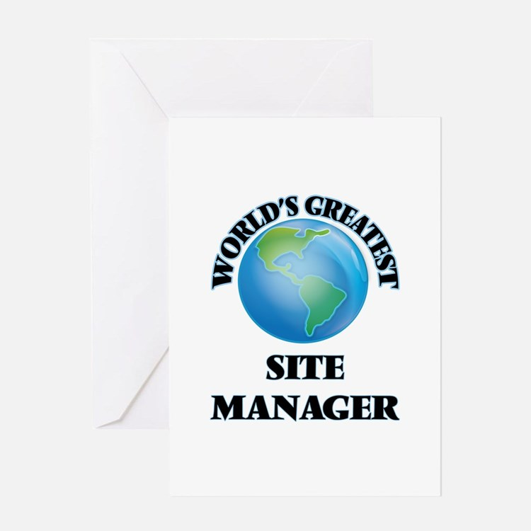 World's Greatest Site Manager Greeting Cards