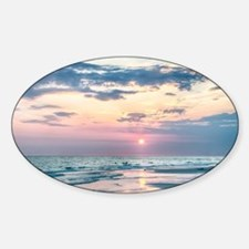 sunset at the beach Decal