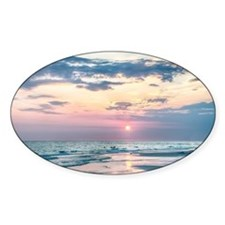 sunset at the beach Stickers