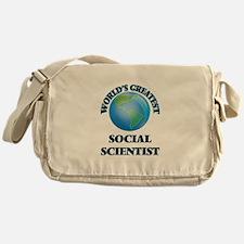Cute Research scientist Messenger Bag