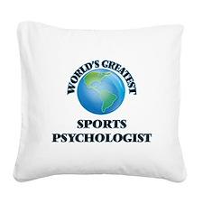 Unique Sports psychology Square Canvas Pillow