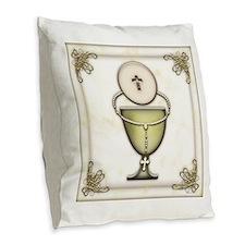 Sacraments Burlap Throw Pillow