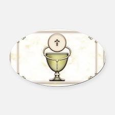 Sacraments Oval Car Magnet