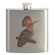 Orange Hoopoe Flask