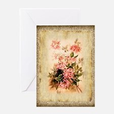 Vintage Wild Honeysuckle Greeting Cards