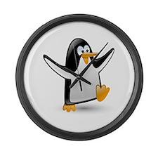 Unique Penguin Large Wall Clock