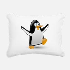 Unique Funny penguin Rectangular Canvas Pillow