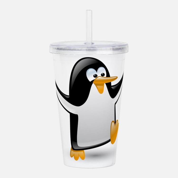 Cute Animals penguin Acrylic Double-wall Tumbler