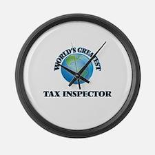 Cute Tax inspector Large Wall Clock