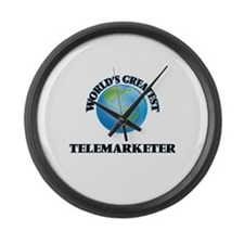 Cute Appointment setting telemarketing Large Wall Clock