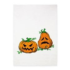 Scribble Jack-o-Lanterns 5'x7'Area Rug