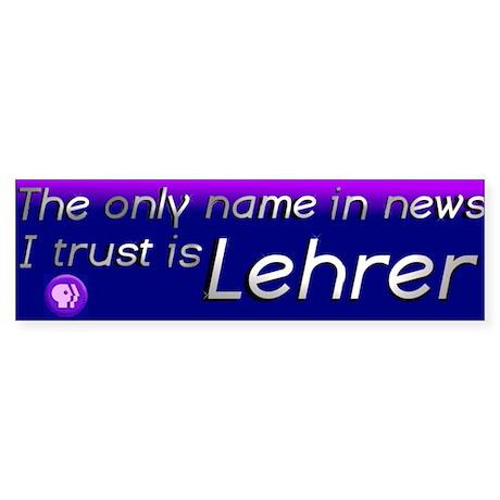 News Hour bumper sticker