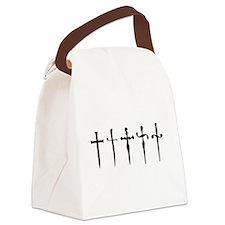 Cute Black dagger Canvas Lunch Bag