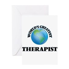 World's Greatest Therapist Greeting Cards