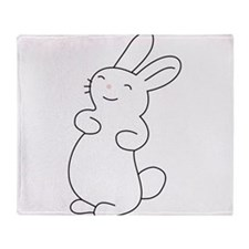 Cute Cute bunny Throw Blanket