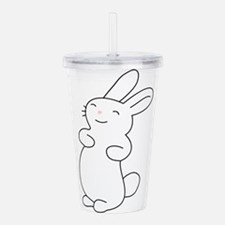 Cute Cute rabbits Acrylic Double-wall Tumbler