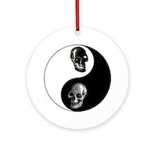 Skull Yin Yang Ornament (Round)