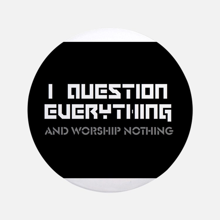 """Cute Atheism 3.5"""" Button (100 pack)"""