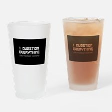 Cute Atheism Drinking Glass