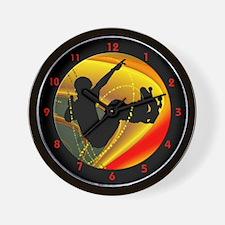 Unique Halfpipe Wall Clock