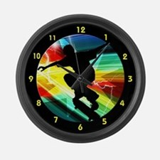 Funny Skater Large Wall Clock