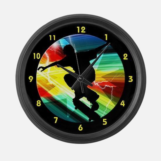 Unique Action athlete Large Wall Clock