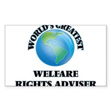 World's Greatest Welfare Rights Adviser Decal