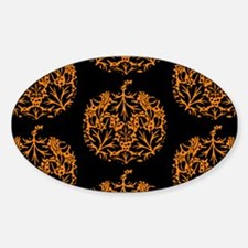 Pumpkin Damask Pattern Bumper Stickers