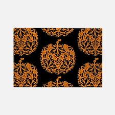 Pumpkin Damask Pattern Magnets