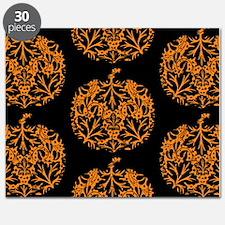 Pumpkin Damask Pattern Puzzle