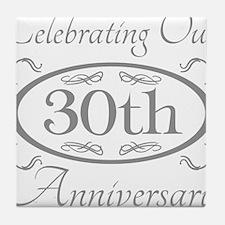 Cute 30th wedding anniversary Tile Coaster