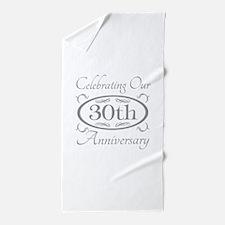 Unique 30th anniversary Beach Towel