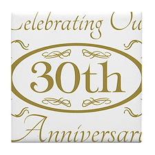Cute 30th celebration Tile Coaster