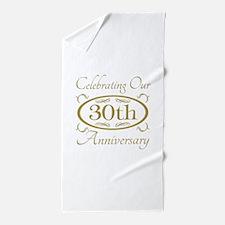 Cool 30th anniversary Beach Towel