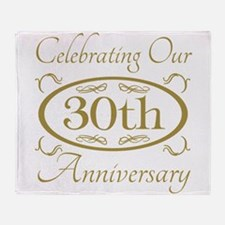 Funny 30th anniversary Throw Blanket
