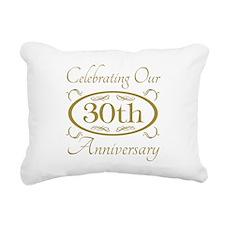 Cute 30th wedding anniversary Rectangular Canvas Pillow