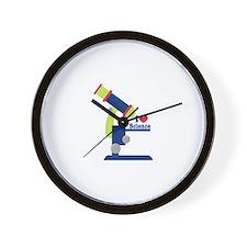 I Heart Science Wall Clock