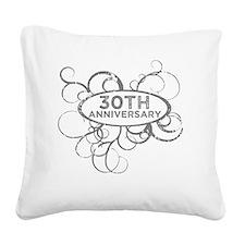 Unique 30th wedding anniversary Square Canvas Pillow