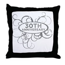 Funny 30th wedding anniversary Throw Pillow