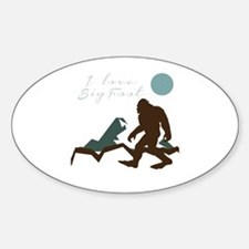 I Love Bigfoot Decal